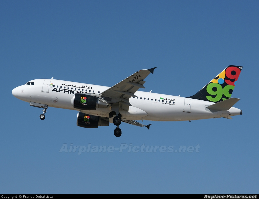 Afriqiyah Airways 5A-OND aircraft at Malta Intl