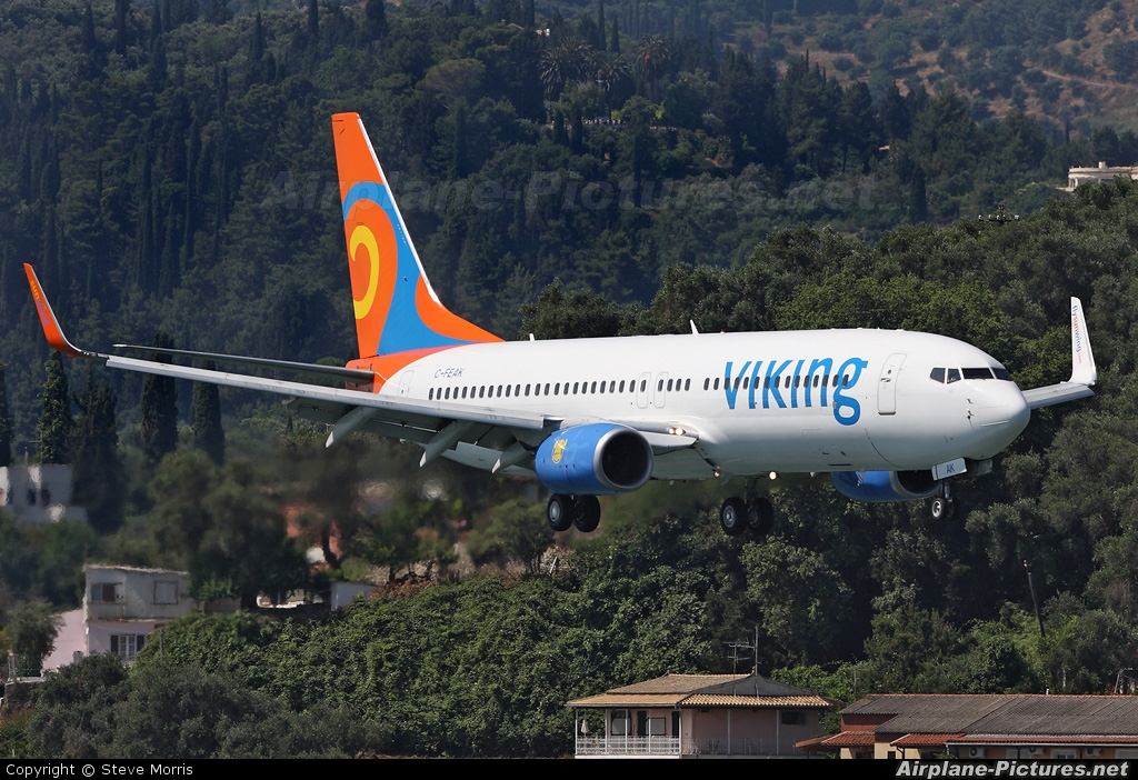 Viking Airlines C-FEAK aircraft at Corfu - Ioannis Kapodistrias