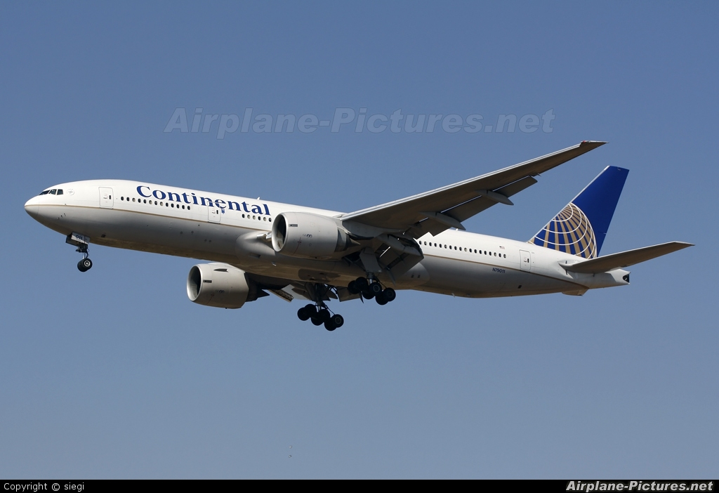 Continental Airlines N79011 aircraft at Tel Aviv - Ben Gurion