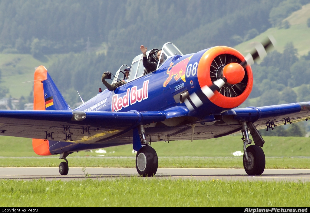 The Flying Bulls D-FHGL aircraft at Zeltweg