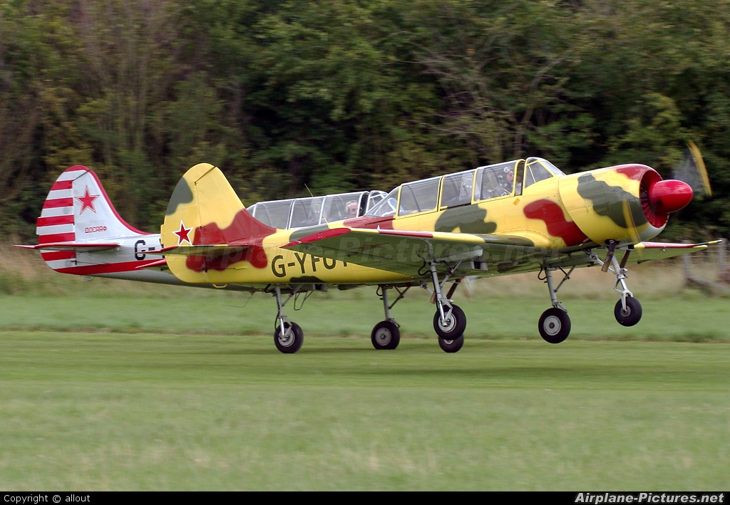 Private G-YFUT aircraft at Old Warden