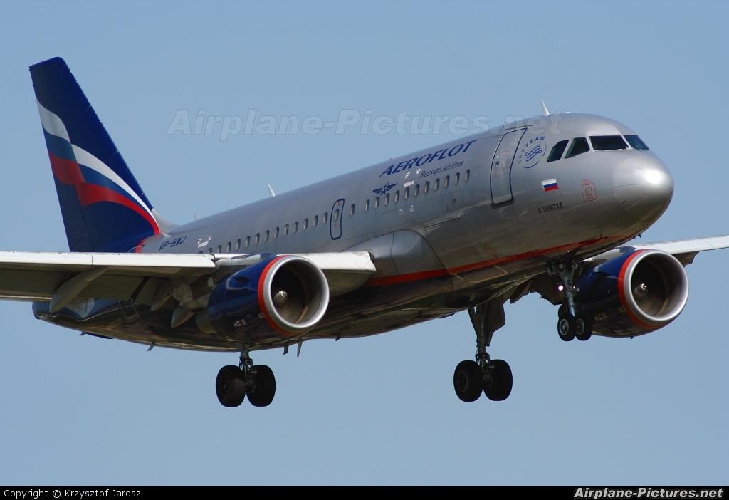 Aeroflot VP-BWJ aircraft at Warsaw - Frederic Chopin