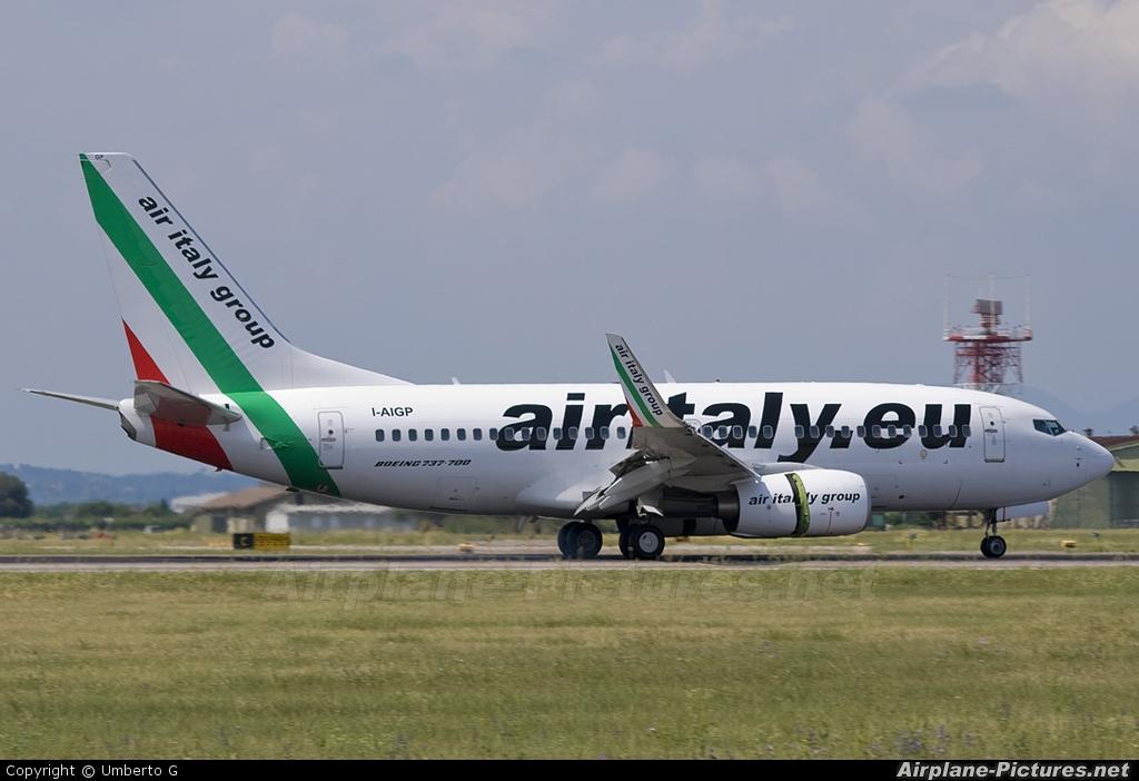 Air Italy I-AIGP aircraft at Verona - Villafranca