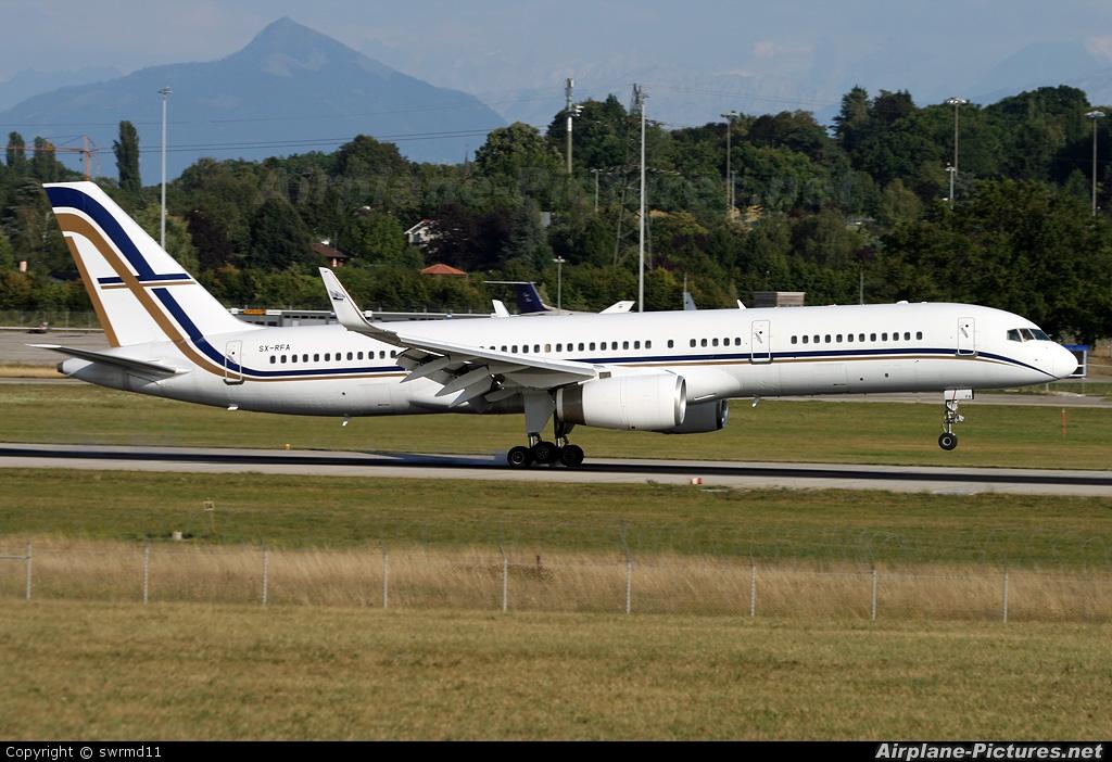 Gainjet SX-RFA aircraft at Geneva Intl