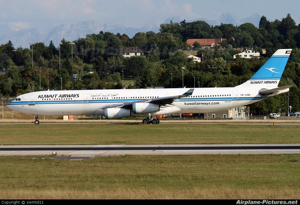 Kuwait Airways 9K-ANB aircraft at Geneva Intl