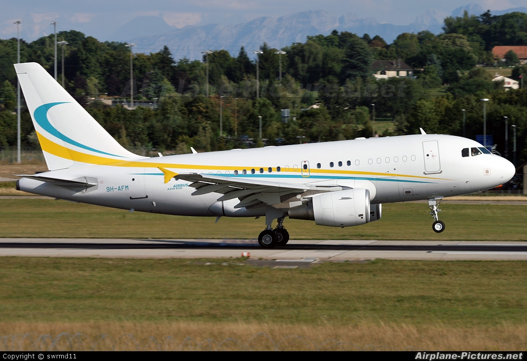 Comlux Aviation 9H-AFM aircraft at Geneva Intl
