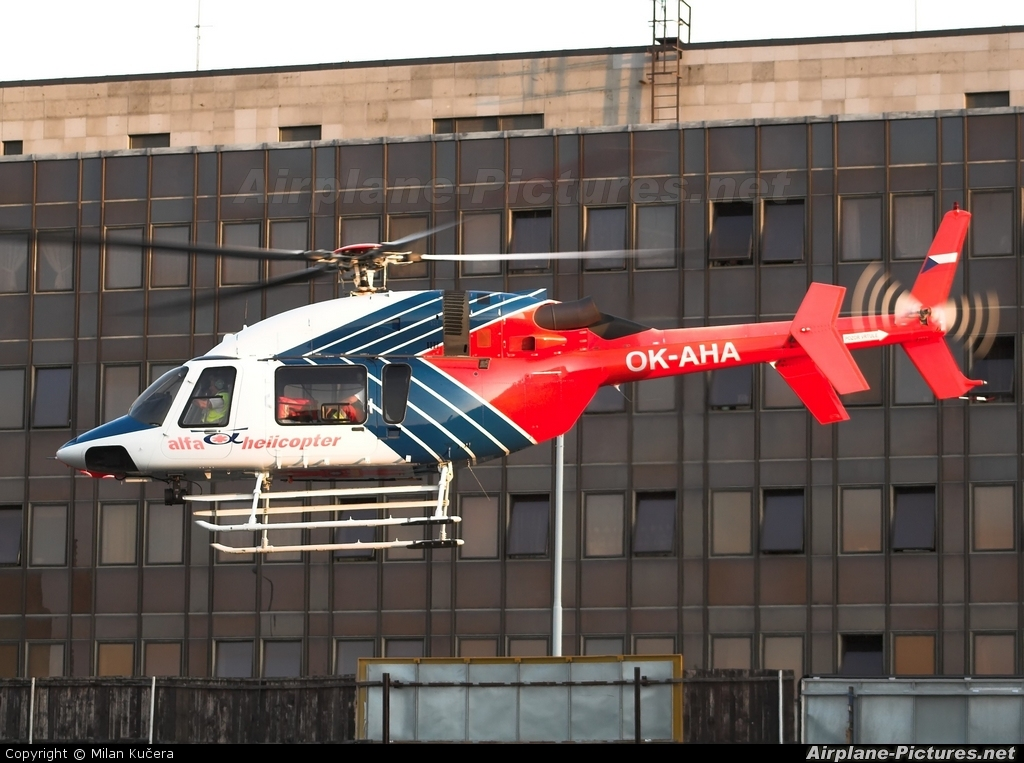 Alfa Helicopter OK-AHA aircraft at Off Airport - Czech Republic