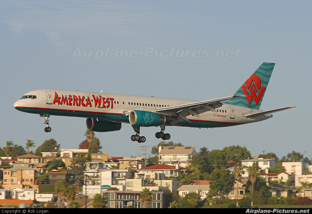 America West Airlines N913AW aircraft at San Diego - Lindbergh Field