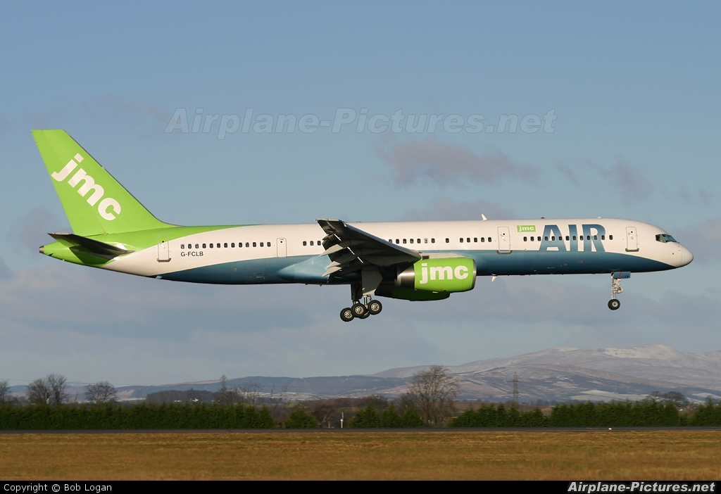 G-FCLB - JMC Air Boeing 757-200 at Glasgow | Photo ID 59316 |  Airplane-Pictures.net
