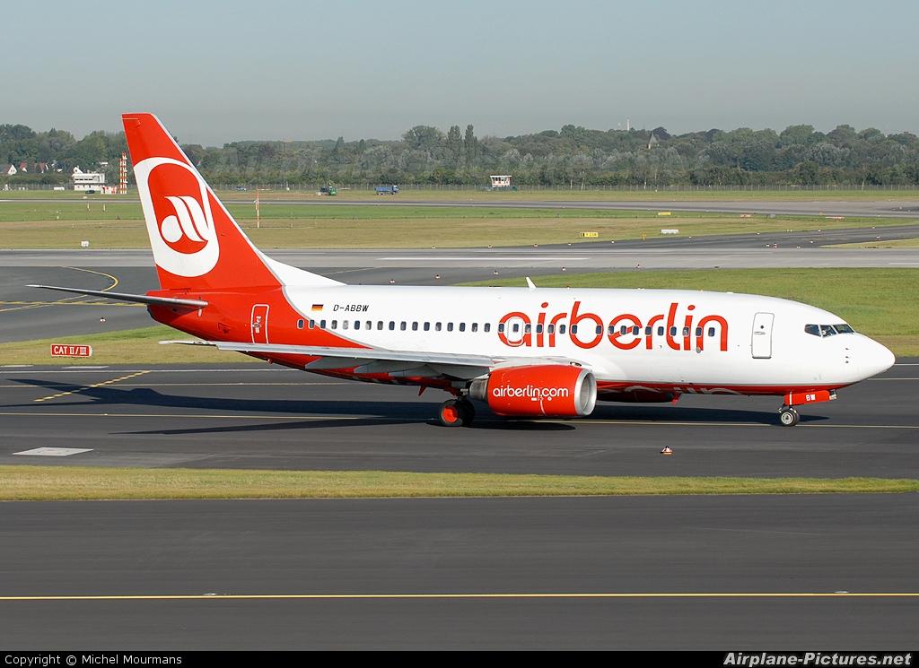 Air Berlin D-ABBW aircraft at Düsseldorf