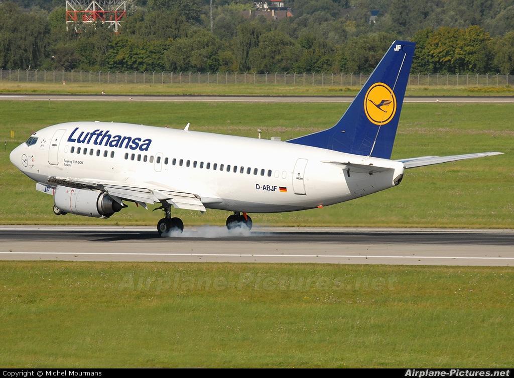 D Abjf Lufthansa Boeing 737 500 At Dusseldorf Photo Id 59442 Airplane Pictures Net
