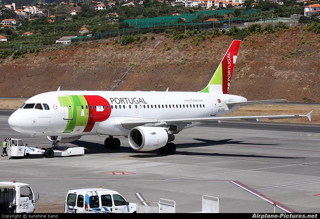 TAP Portugal CS-TTC aircraft at Madeira