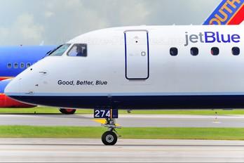 N274JB - JetBlue Airways Embraer ERJ-190 (190-100)
