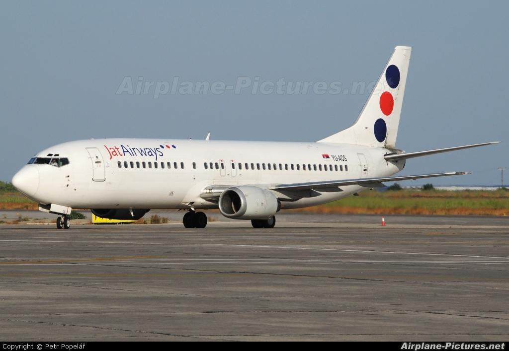 JAT Airways YU-AOS aircraft at Rhodes - Diagoras
