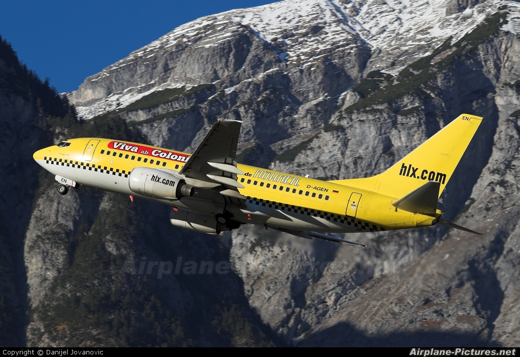 Hapag Lloyd Express D-AGEN aircraft at Innsbruck