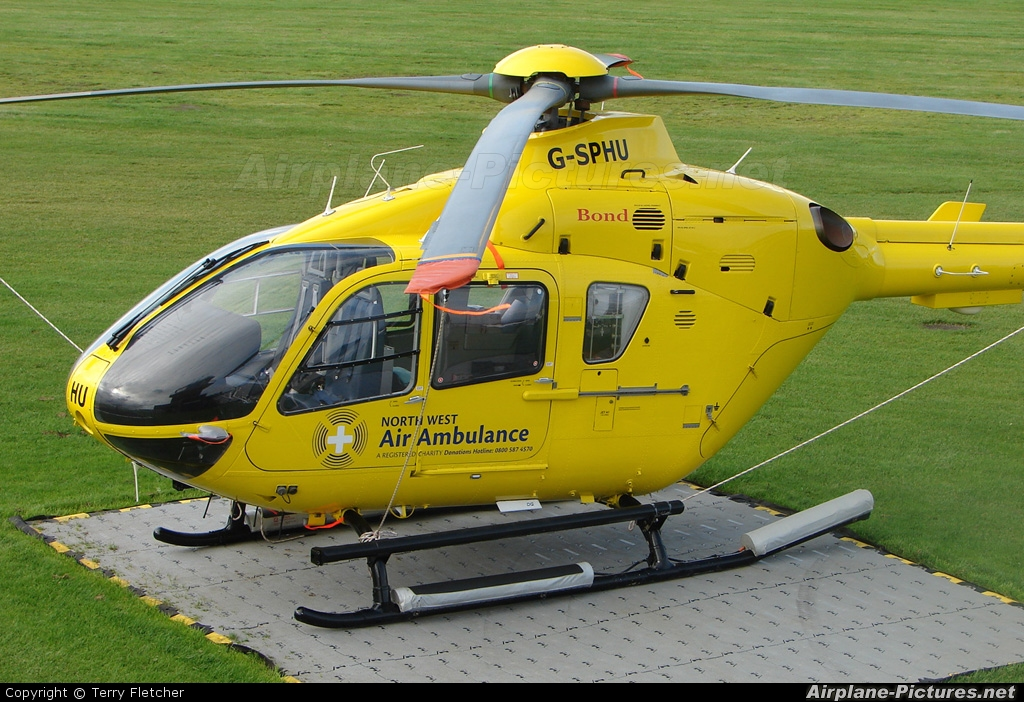 North West Air Ambulance G-SPHU aircraft at Manchester - Barton