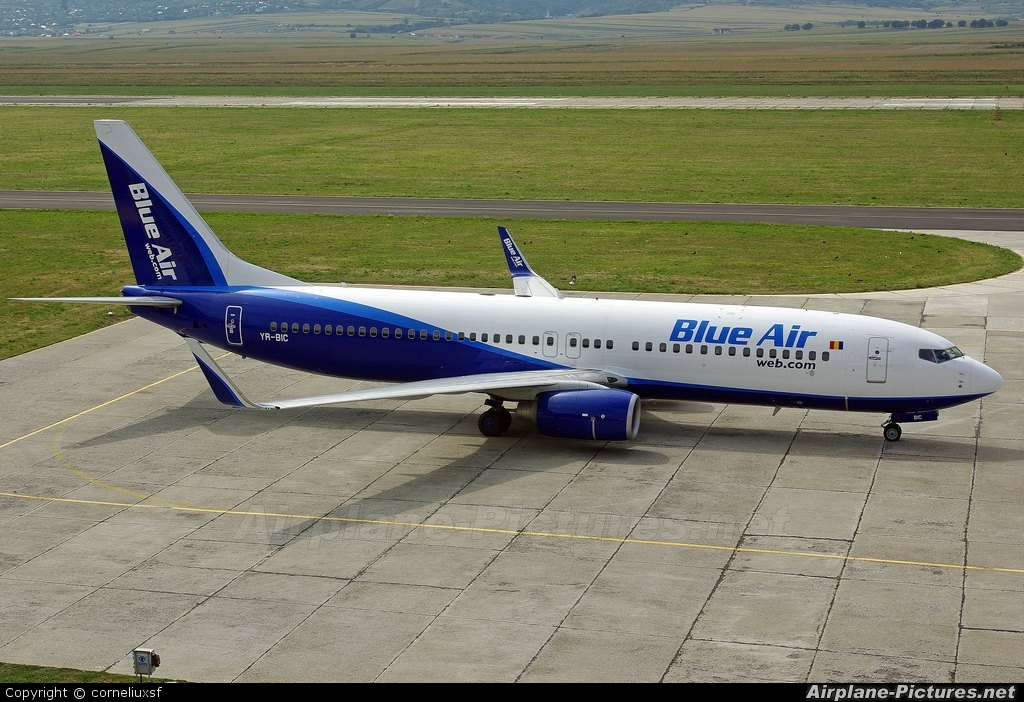Blue Air YR-BIC aircraft at Bacau