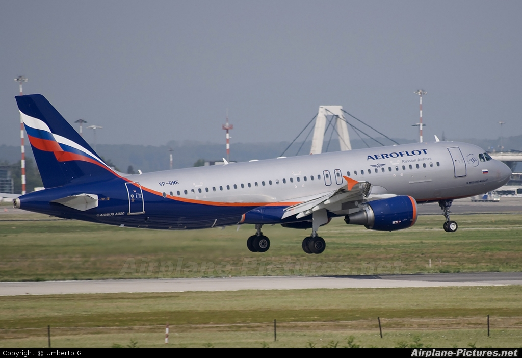 Aeroflot VP-BME aircraft at Milan - Malpensa