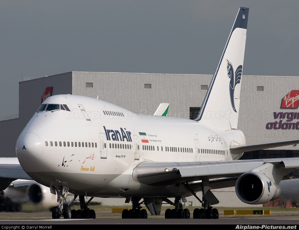 Iran Air EP-IAA aircraft at London - Heathrow