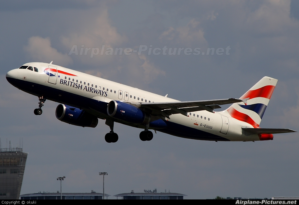 British Airways G-EUUU aircraft at Warsaw - Frederic Chopin