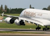 A6-EDE - Emirates Airlines Airbus A380 aircraft