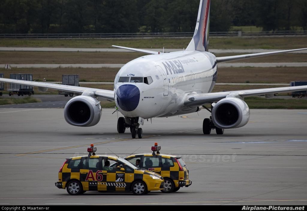 Malev HA-LON aircraft at Budapest Ferenc Liszt International Airport