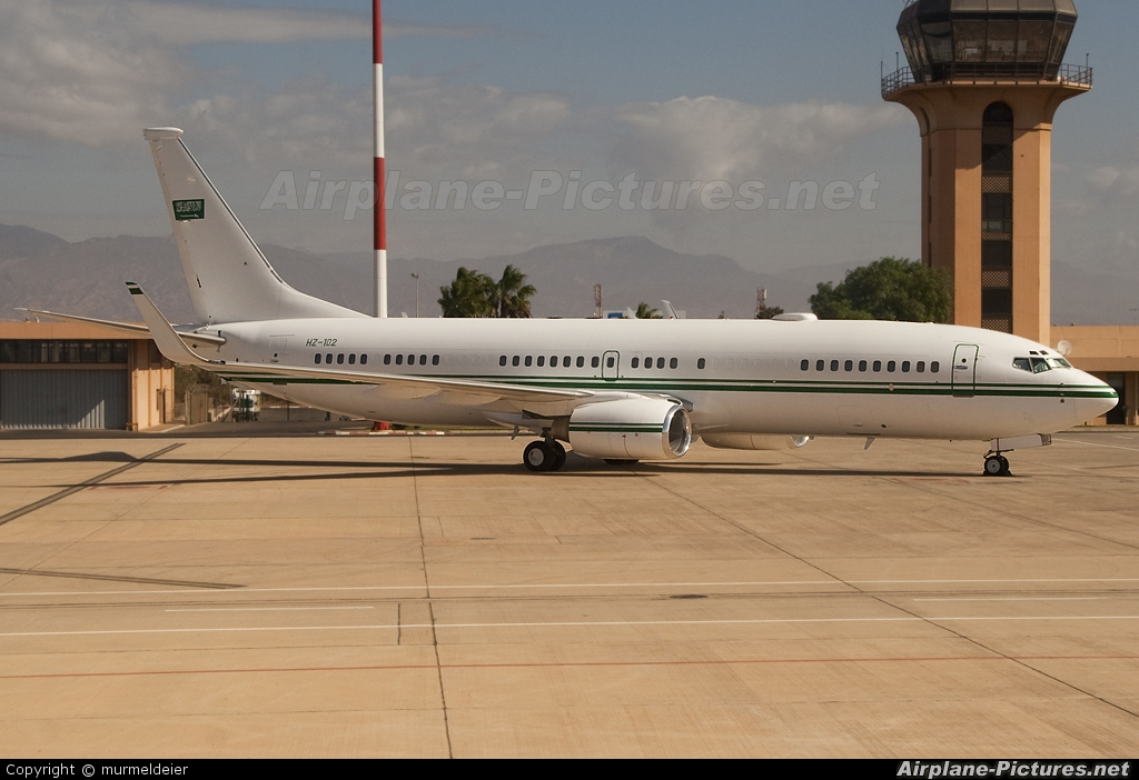 Saudi Arabia - Government HZ-102 aircraft at Agadir - Al Massira