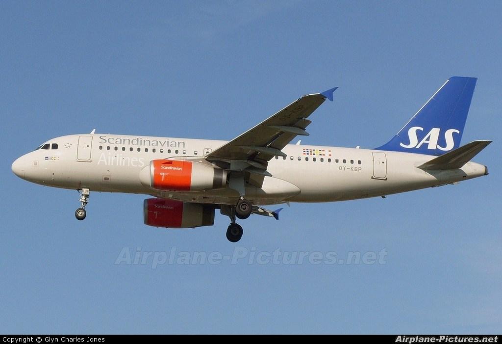 SAS - Scandinavian Airlines OY-KBP aircraft at London - Heathrow