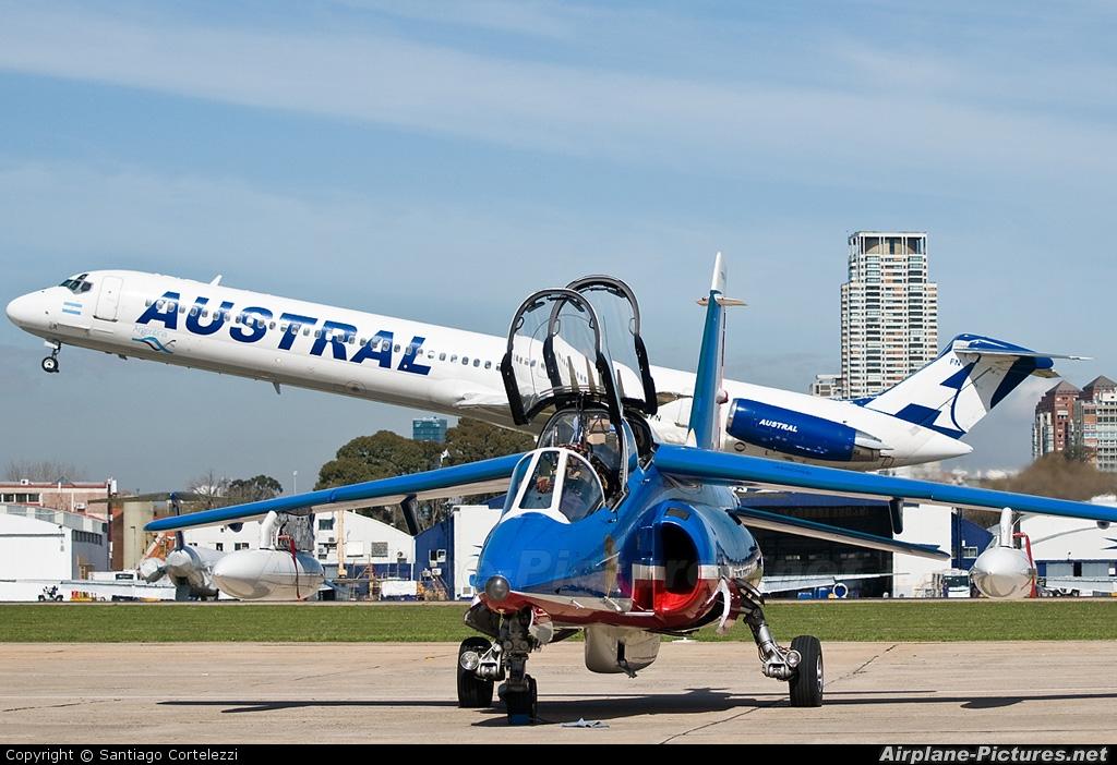 "France - Air Force ""Patrouille de France"" E135 aircraft at Buenos Aires - Jorge Newbery"