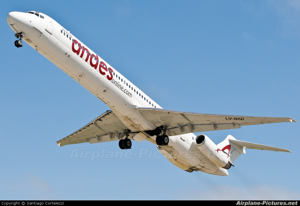 Andes Lineas Aereas  LV-BNI aircraft at Buenos Aires - Jorge Newbery