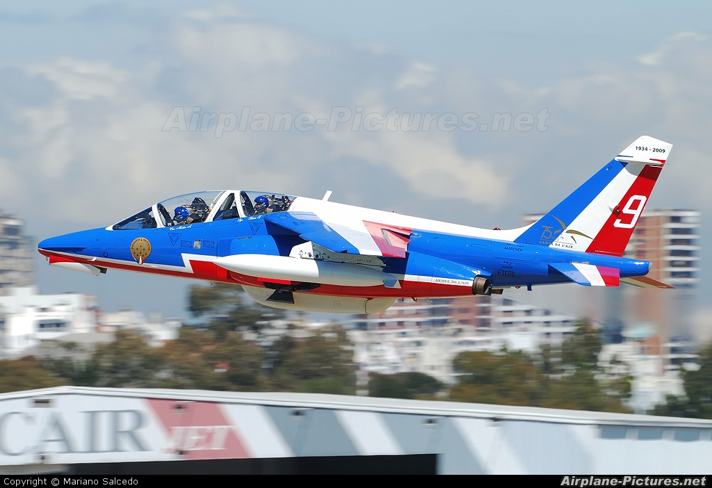 "France - Air Force ""Patrouille de France"" E163 aircraft at Buenos Aires - Jorge Newbery"