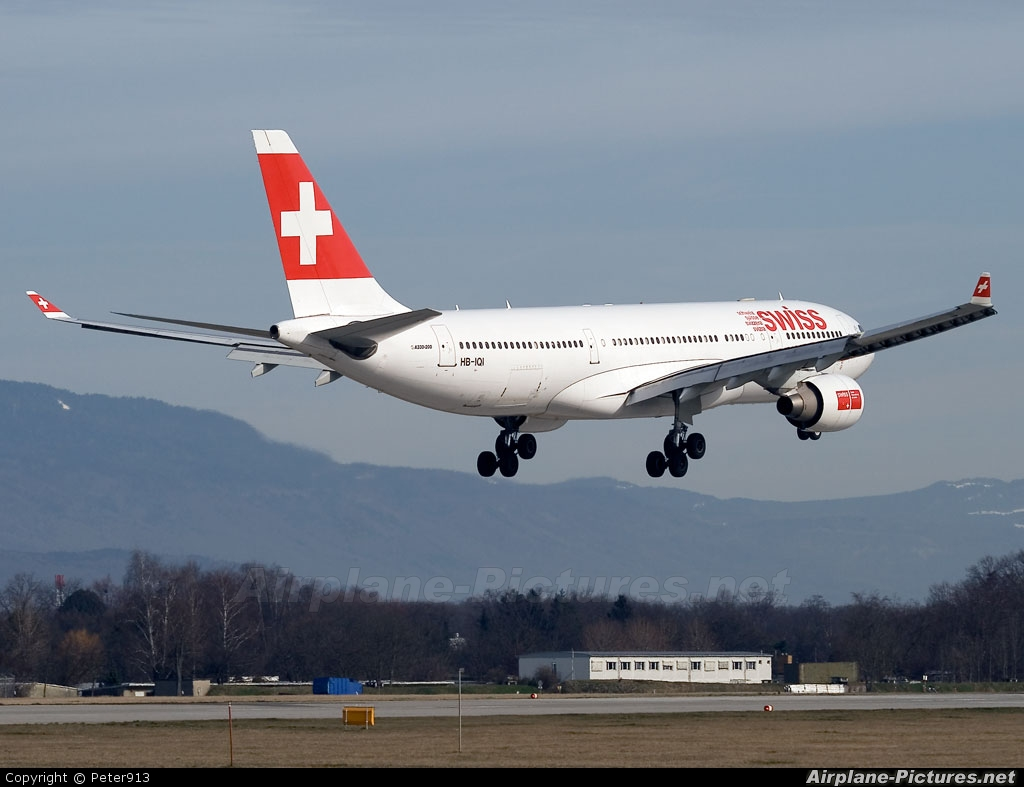 Swiss HB-IQI aircraft at Geneva Intl