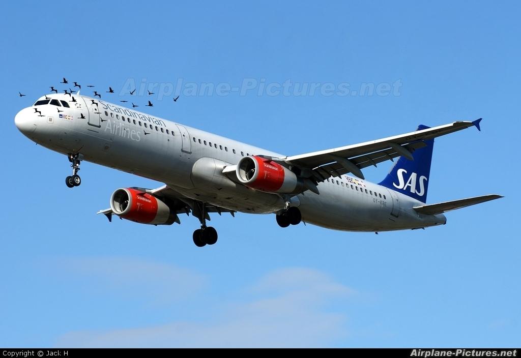 SAS - Scandinavian Airlines OY-KBE aircraft at London - Heathrow