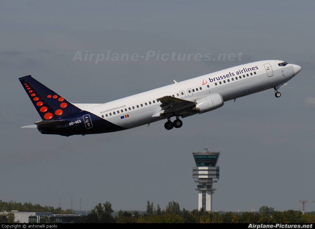 Brussels Airlines OO-VES aircraft at Brussels - Zaventem