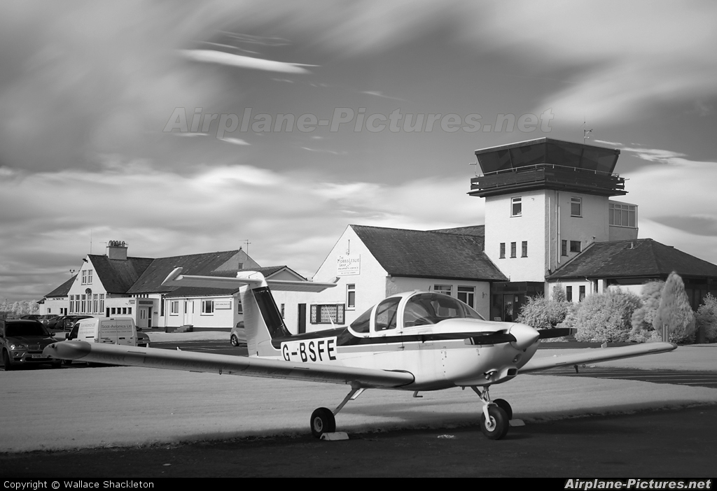 Private G-BSFE aircraft at Perth - Scone