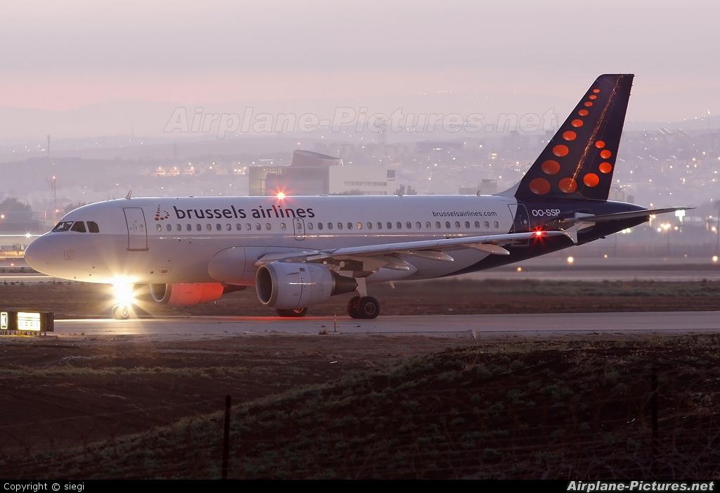 Brussels Airlines OO-SSP aircraft at Tel Aviv - Ben Gurion