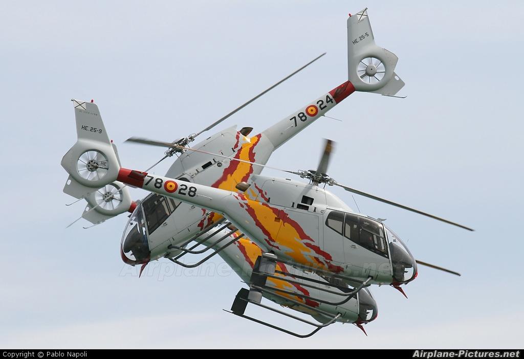 Spain - Air Force: Patrulla ASPA HE.25-9 aircraft at Valencia