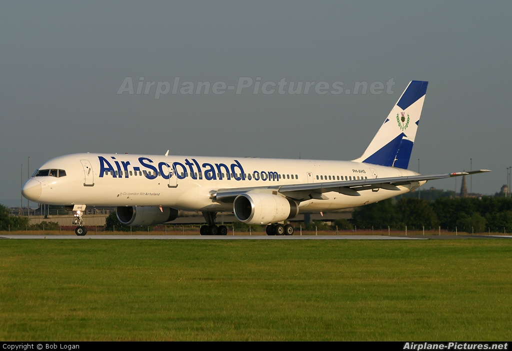 Air Scotland PH-AHS aircraft at Glasgow