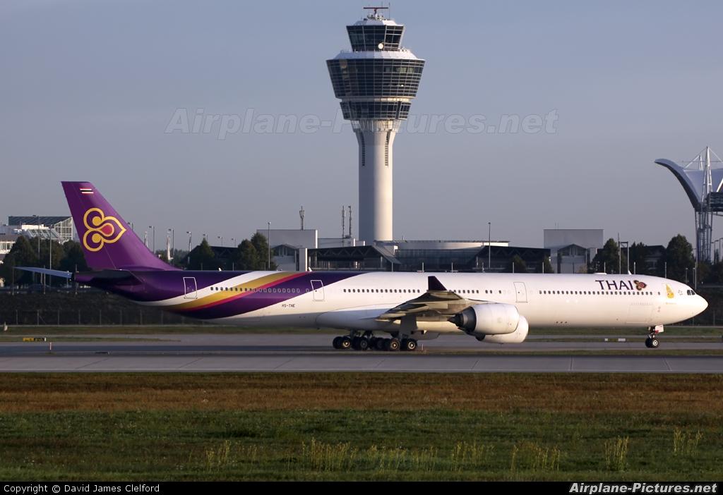 Thai Airways HS-TNE aircraft at Munich