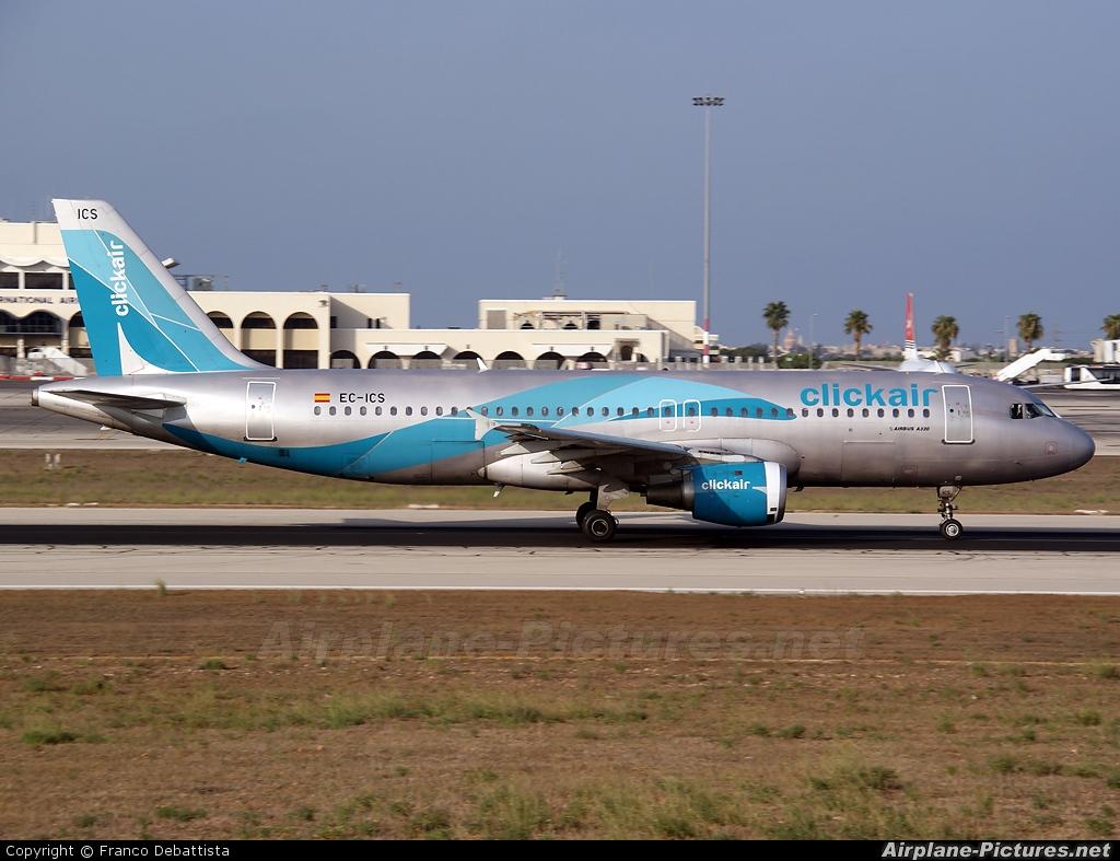 Clickair EC-ICS aircraft at Malta Intl