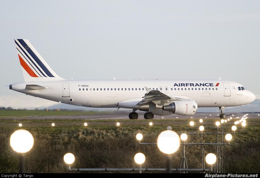 Air France F-GKXU aircraft at Manchester