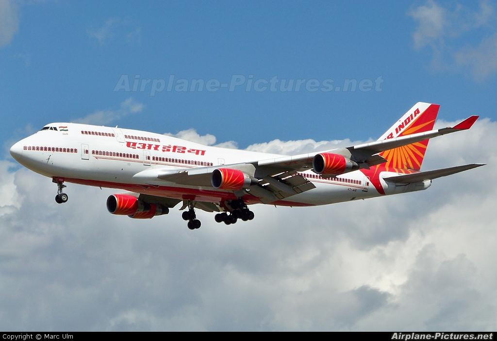 Air India VT-AIS aircraft at Frankfurt