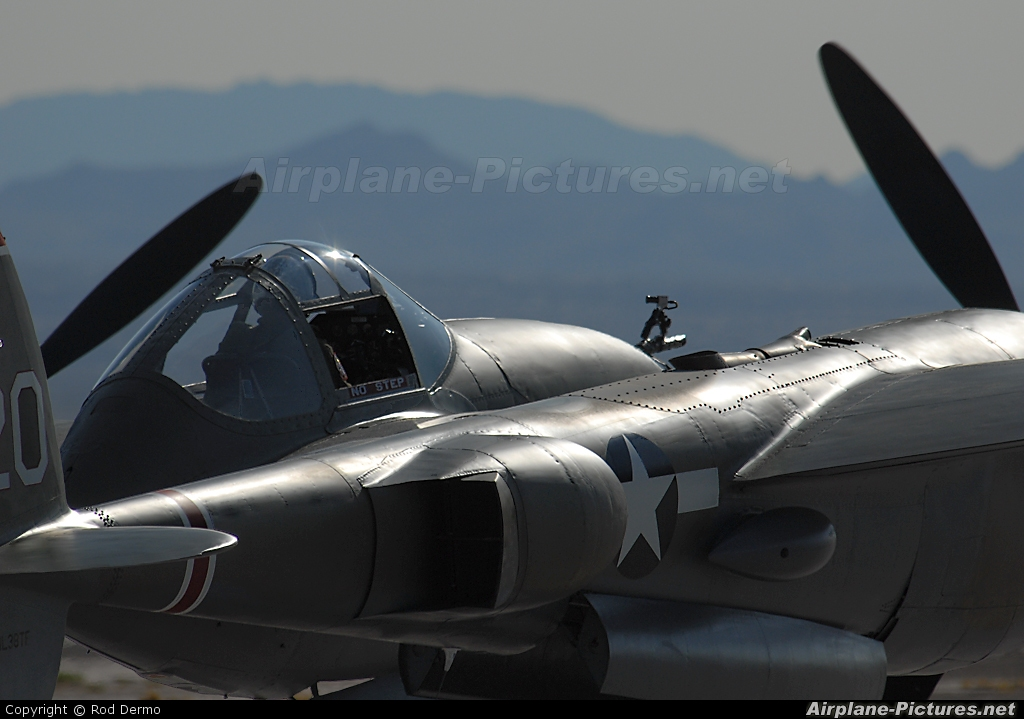 Private NL38TF aircraft at Nellis AFB