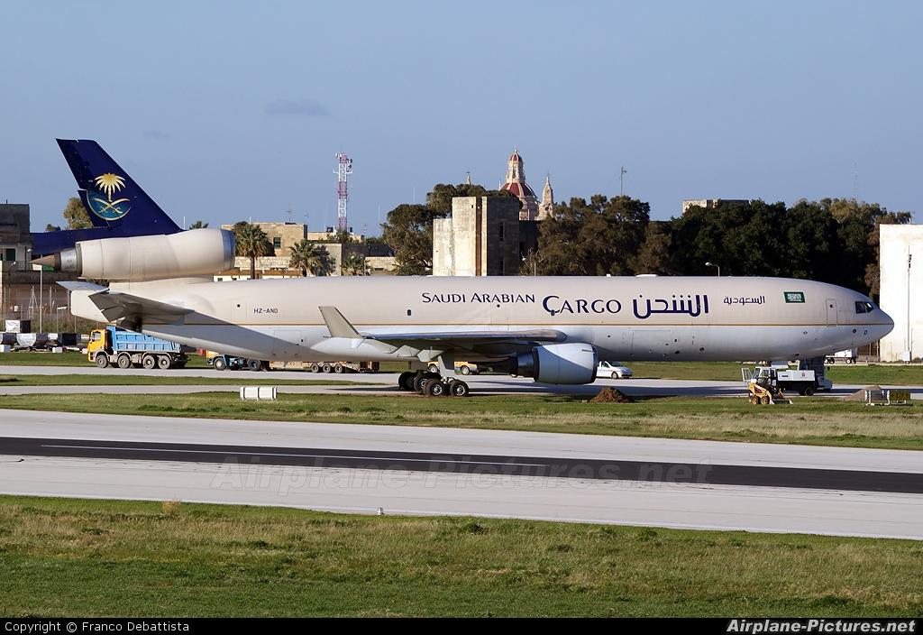 Saudi Arabian Cargo HZ-AND aircraft at Malta Intl