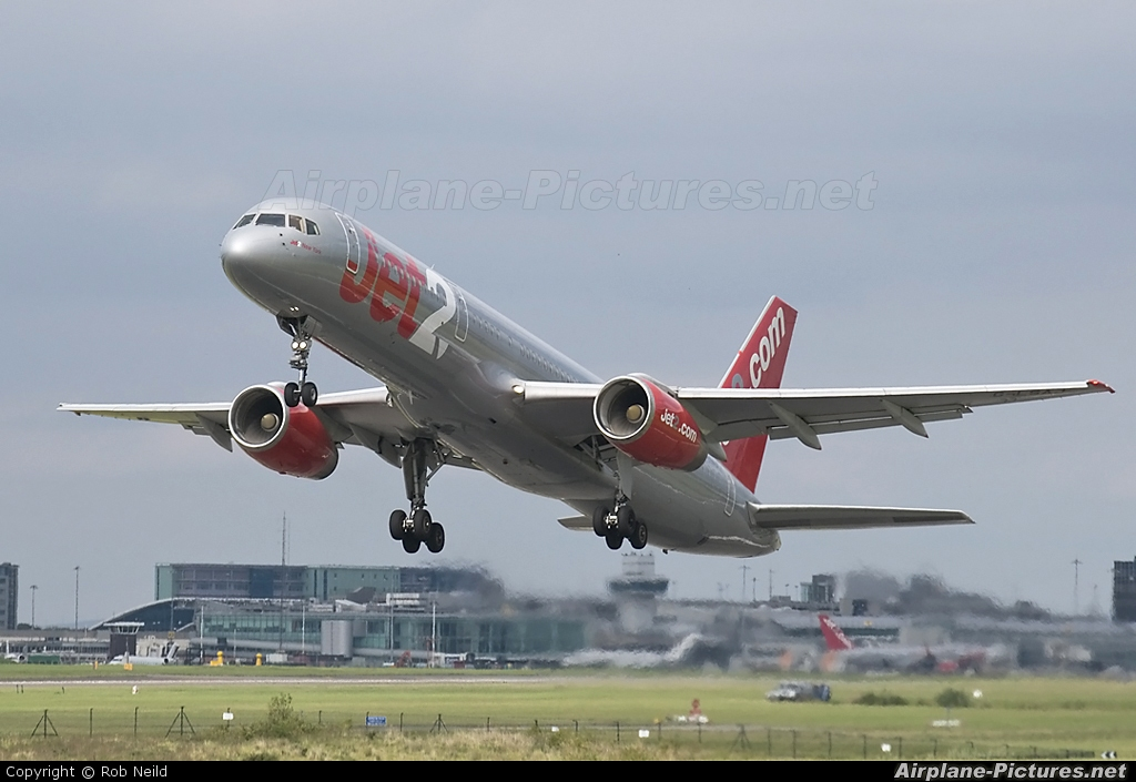 Jet2 G-LSAJ aircraft at Manchester