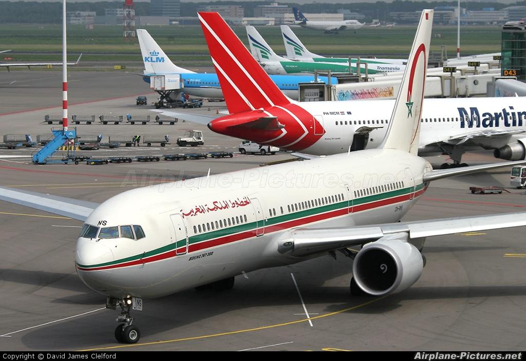 Royal Air Maroc CN-RNS aircraft at Amsterdam - Schiphol