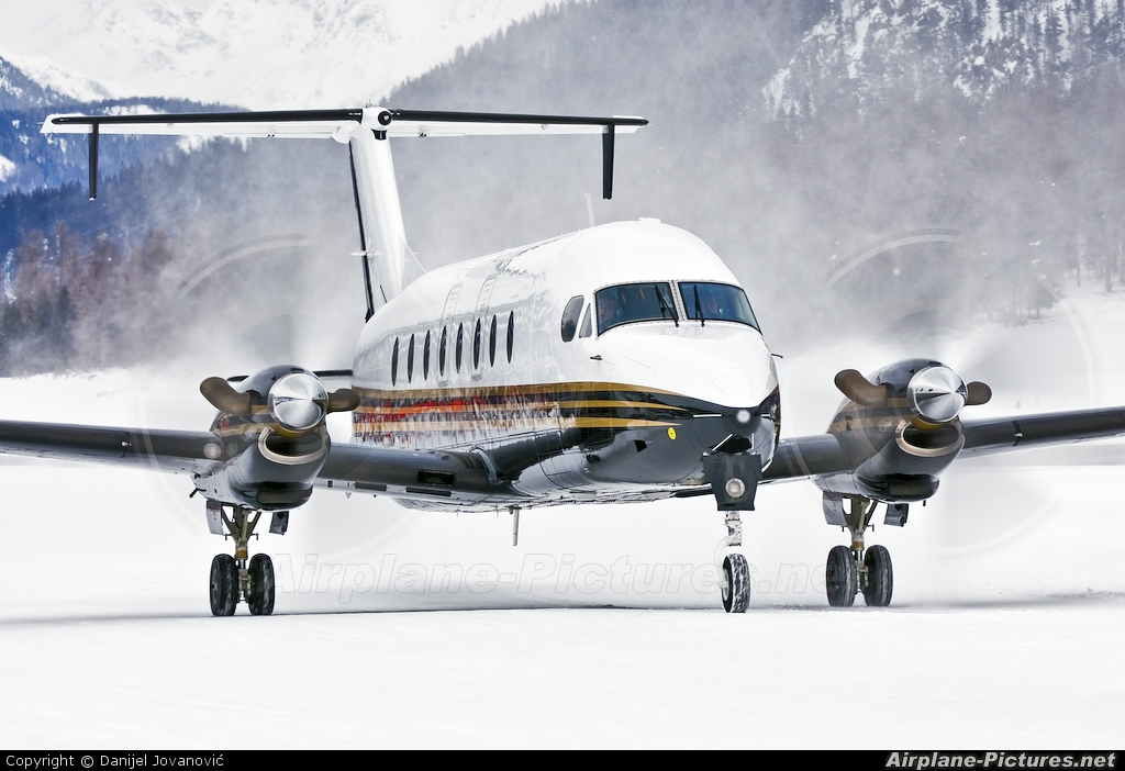 Twin Jet F-GLNH aircraft at Samedan - Engadin