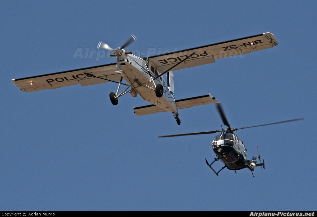 South Africa - Police ZS-NIR aircraft at Off Airport - South Africa
