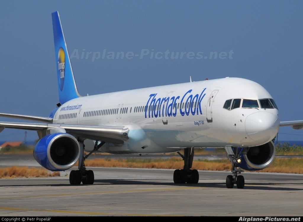 Thomas Cook G-JMAB aircraft at Rhodes - Diagoras