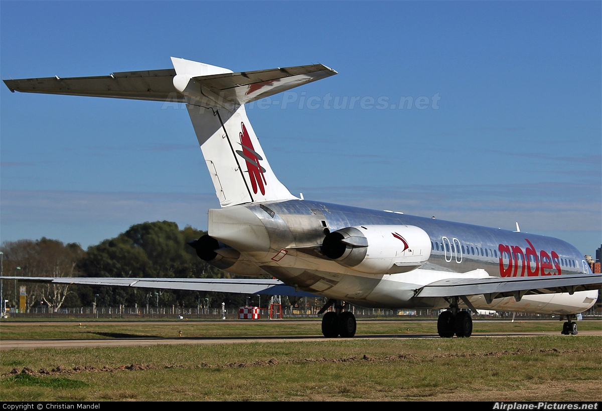 Andes Lineas Aereas  LV-BZR aircraft at Buenos Aires - Jorge Newbery